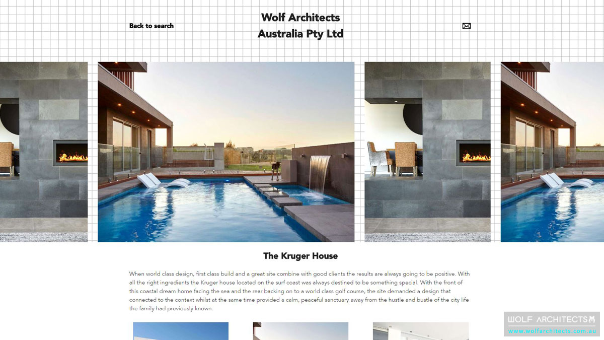 Architeam profile Kruger house screenshot