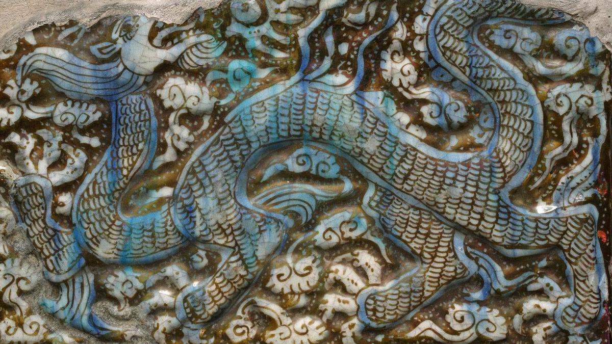 dragon on ceramic