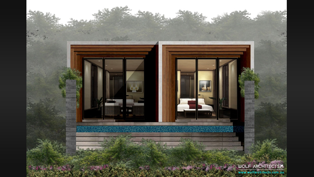 Phuket Resort Front Elevation