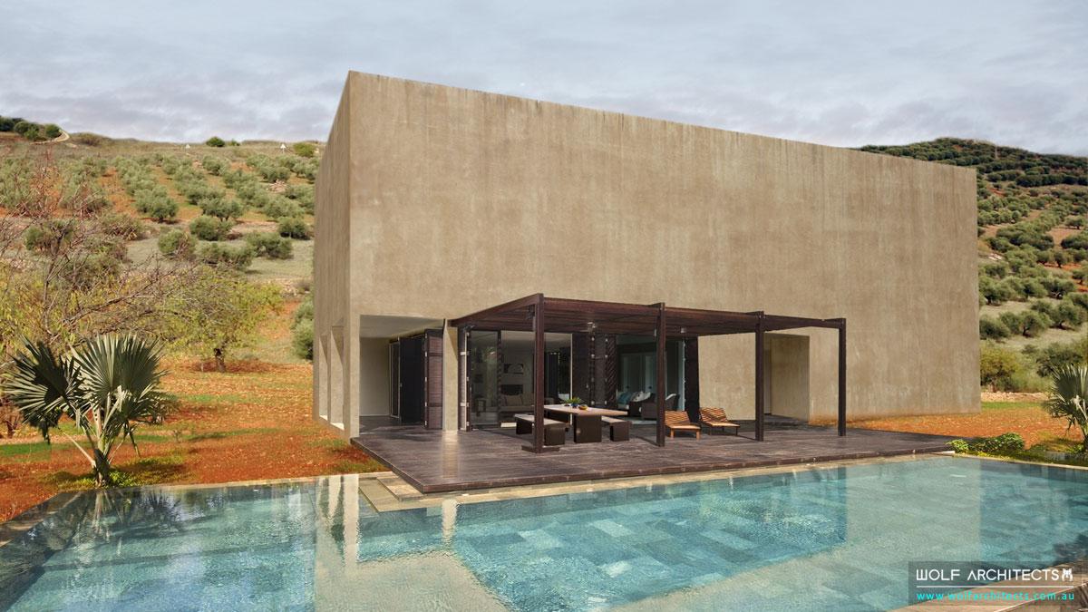 The Spanish Villa Rear exterior