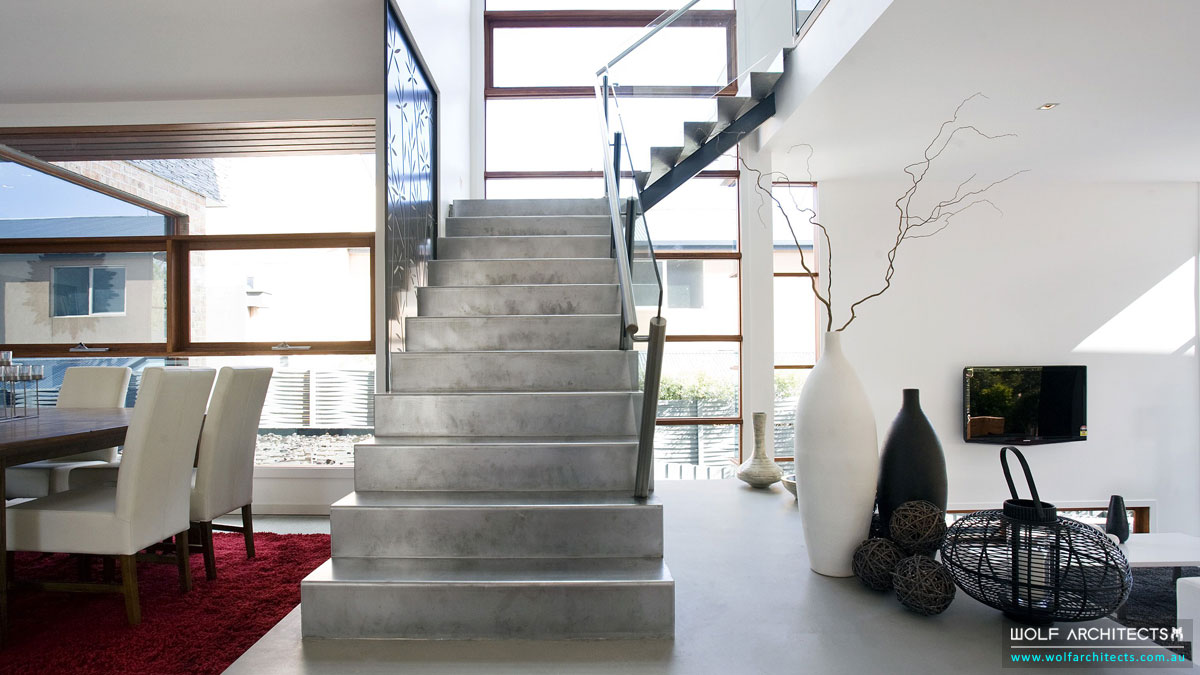 Three Dimensional House metal Stairs
