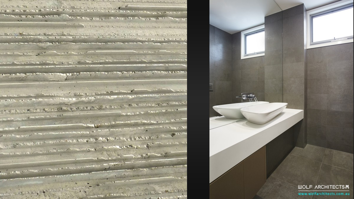 factory concrete surface and bathroom