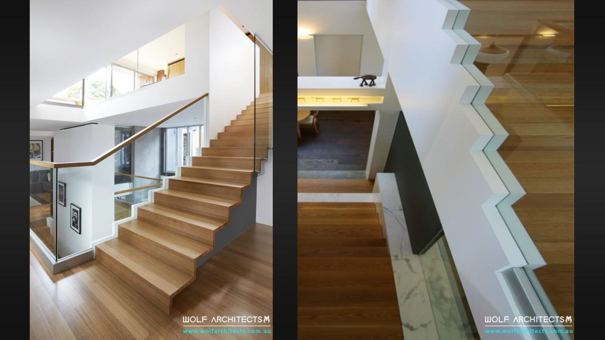 Wolf House mezzanine stairs