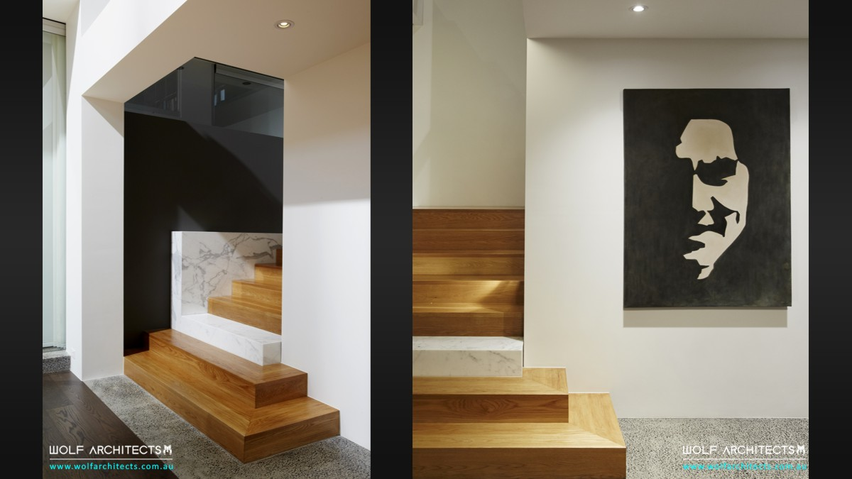 wolf house contemporary stair details