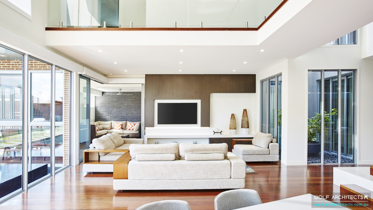 Modern open living room
