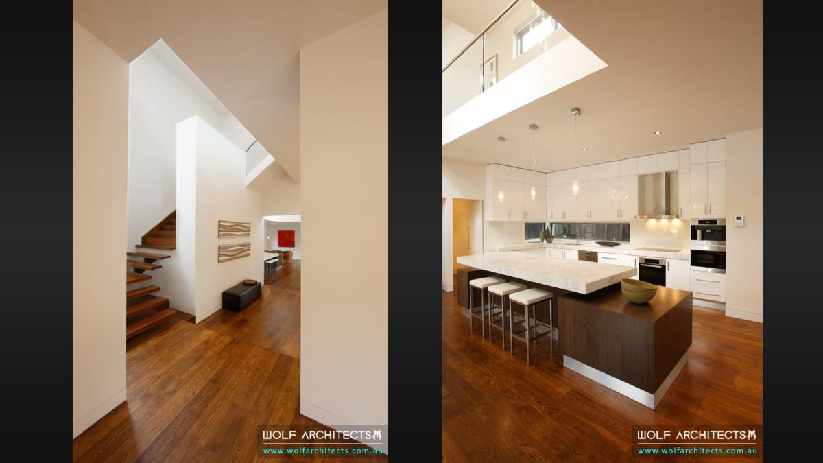 baldwyn house modern void and kitchen