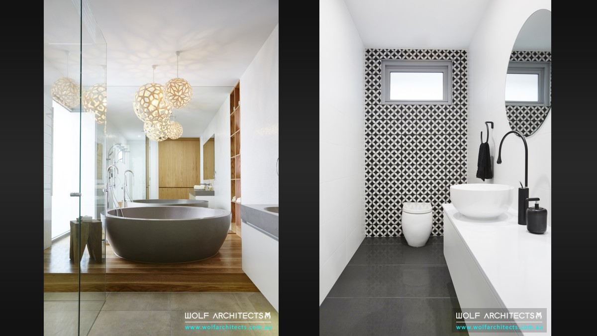 third house modern contemporary bathrooms