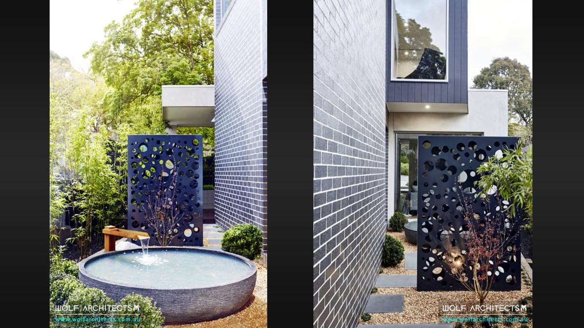 third house modern minimal landscape design