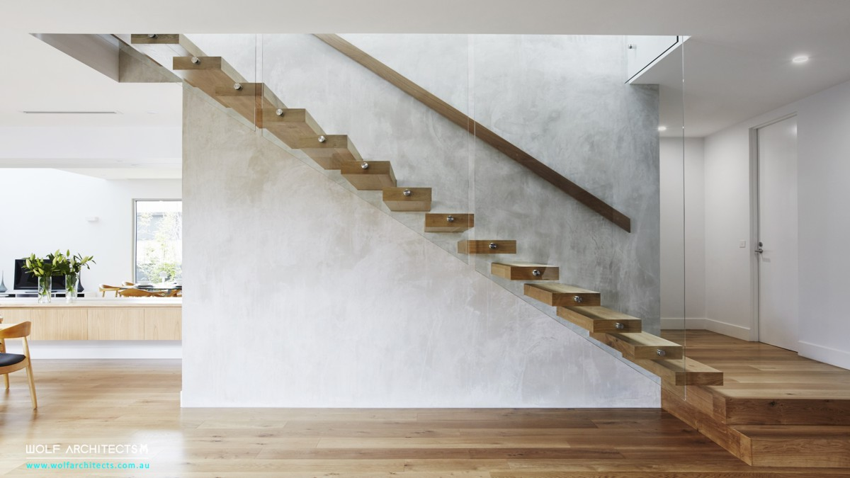 third house modern minimal stair space