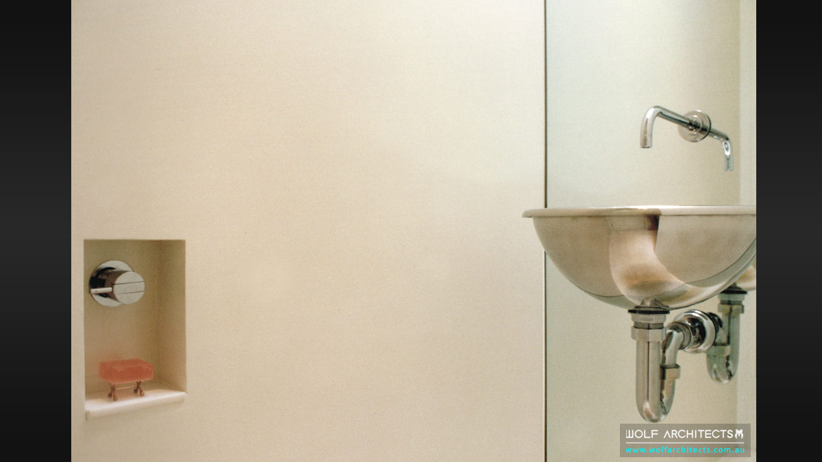 minimal toorak apartment basin