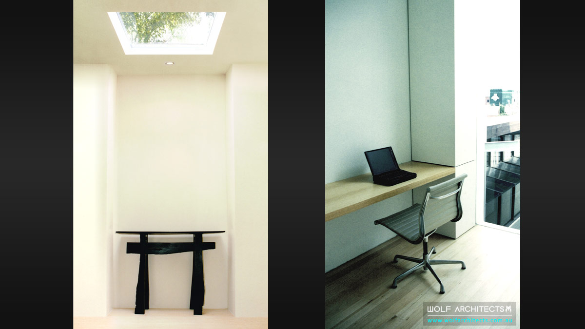 minimal toorak apartment entry study