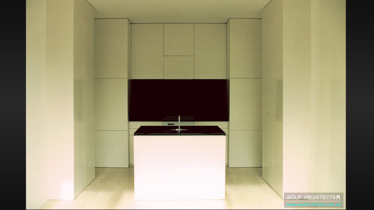 minimal toorak apartment kitchen