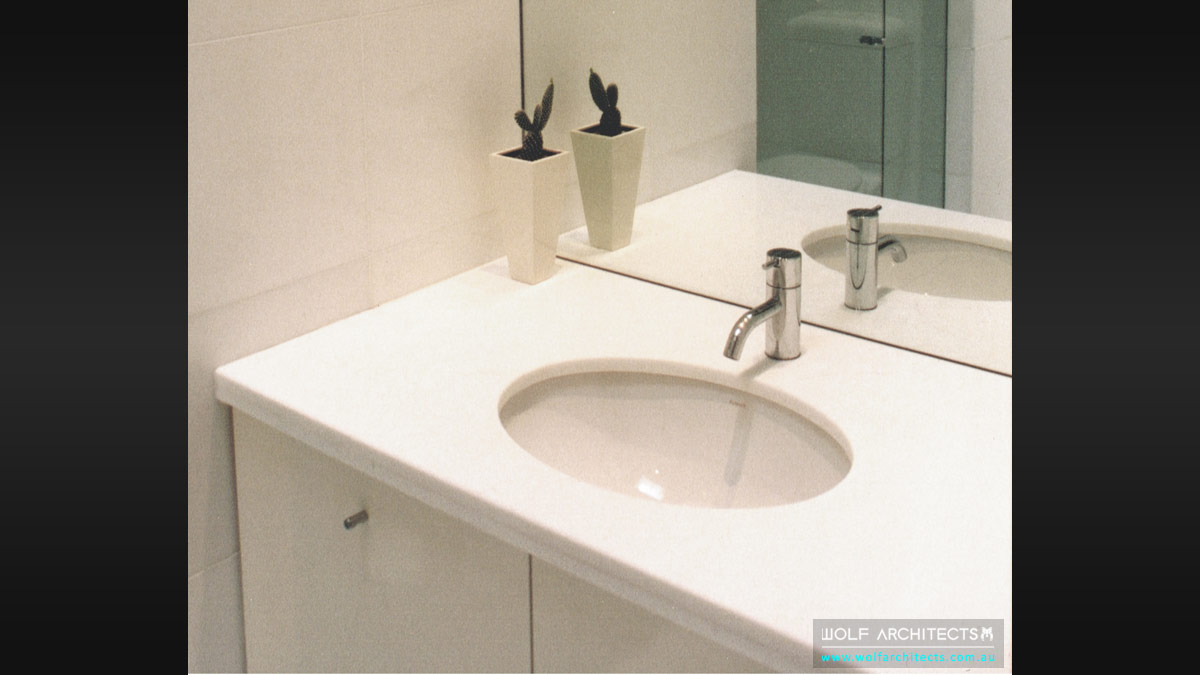 minimal toorak apartment vanity