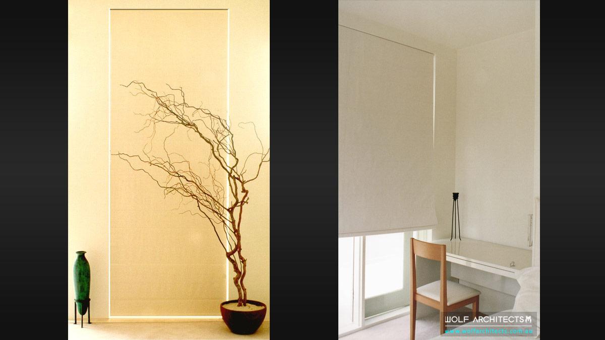 minimal Toorak apartment window study nook