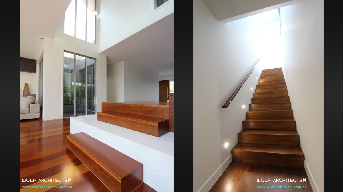 z house contemporary stair rooms