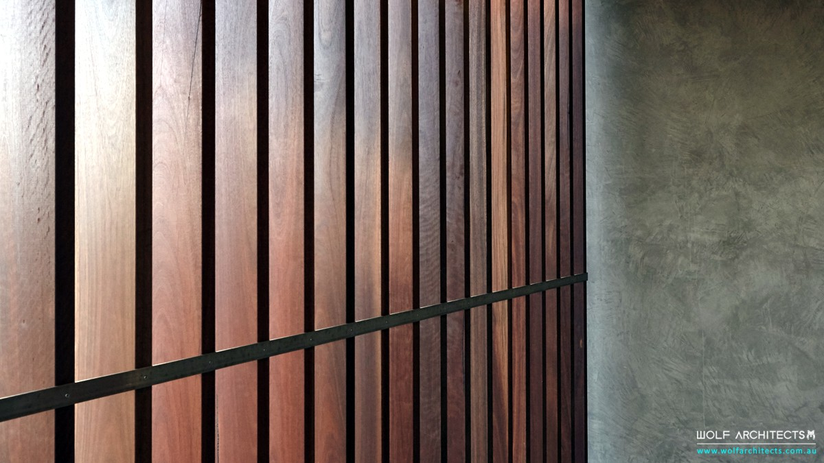 Kruger house modern exterior timber screen