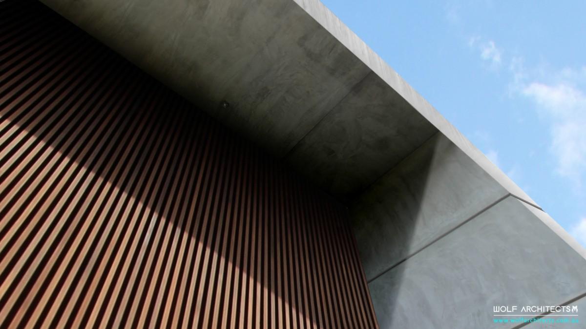 Concrete eave detail
