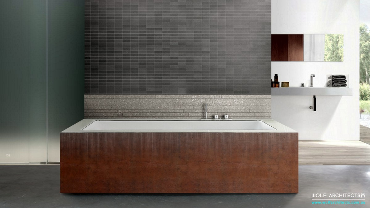 Corten bathtub