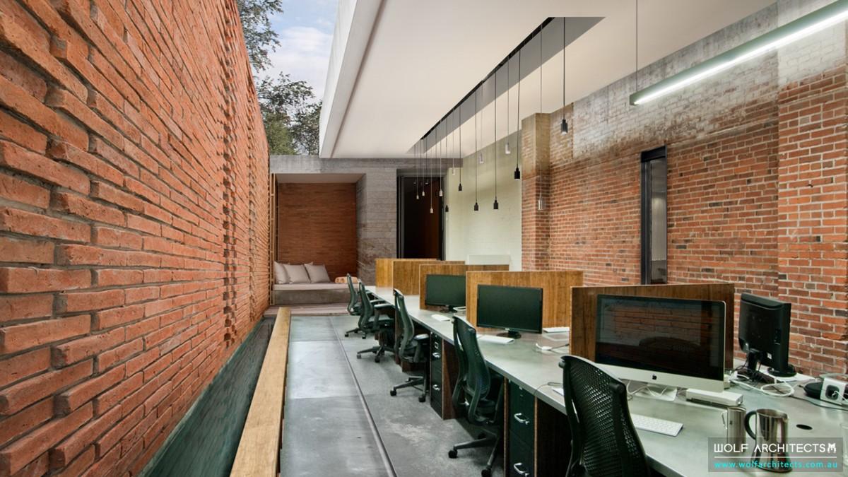 office modern open studio space