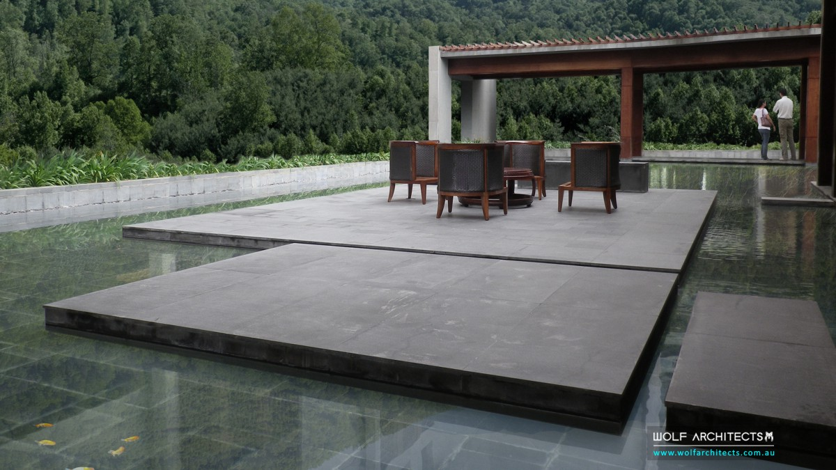 chinese garden landscape designs by wolf architects