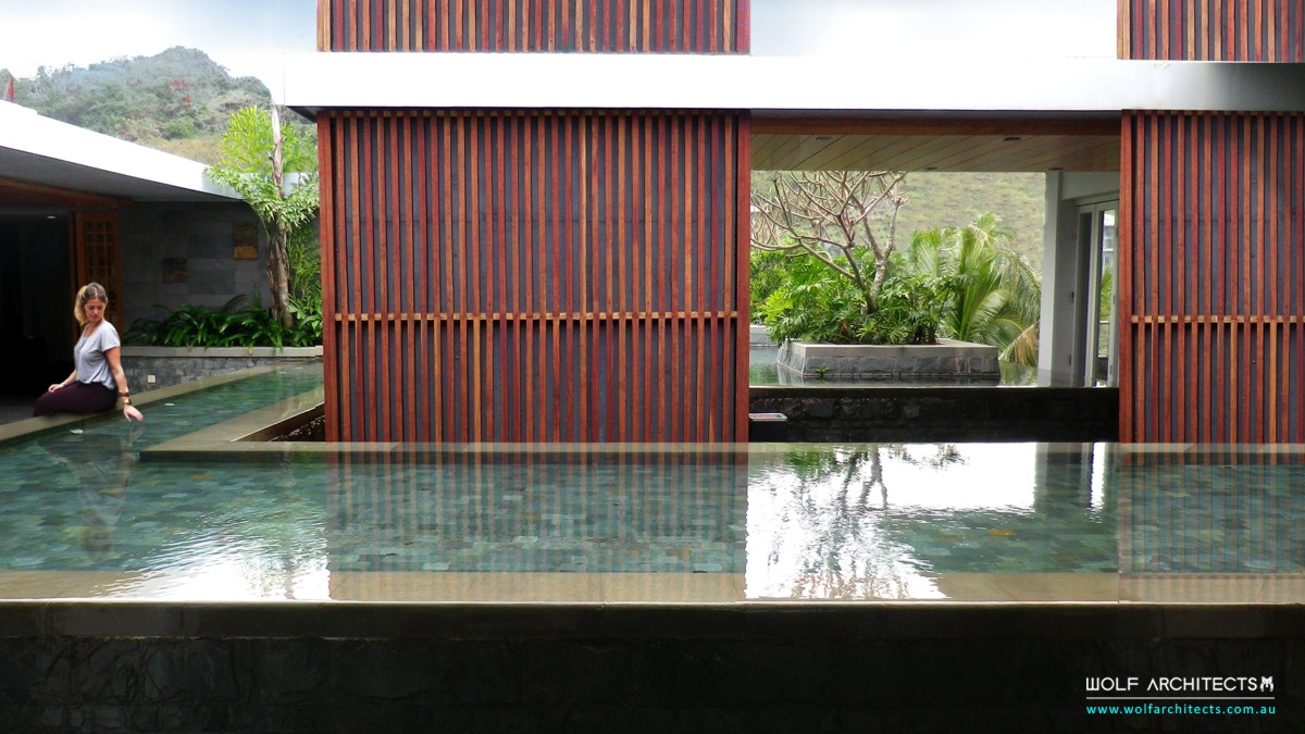 resort water feature by Wolf Architects