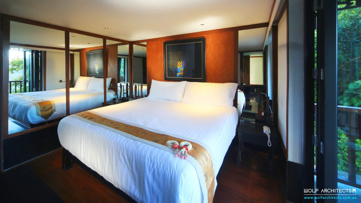 modern traditional Thai bedroom