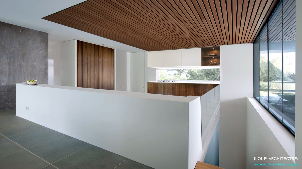 Modern open view space Kitchen by Wolf Architects