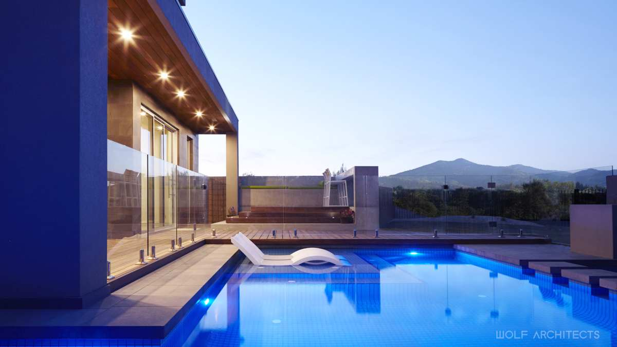 Best contemporary Modern Torquay beach home pool chairs by Wolf Architects