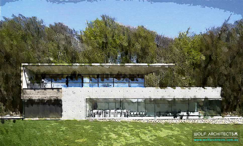 Contemporary Modern Wolf house concept Canada