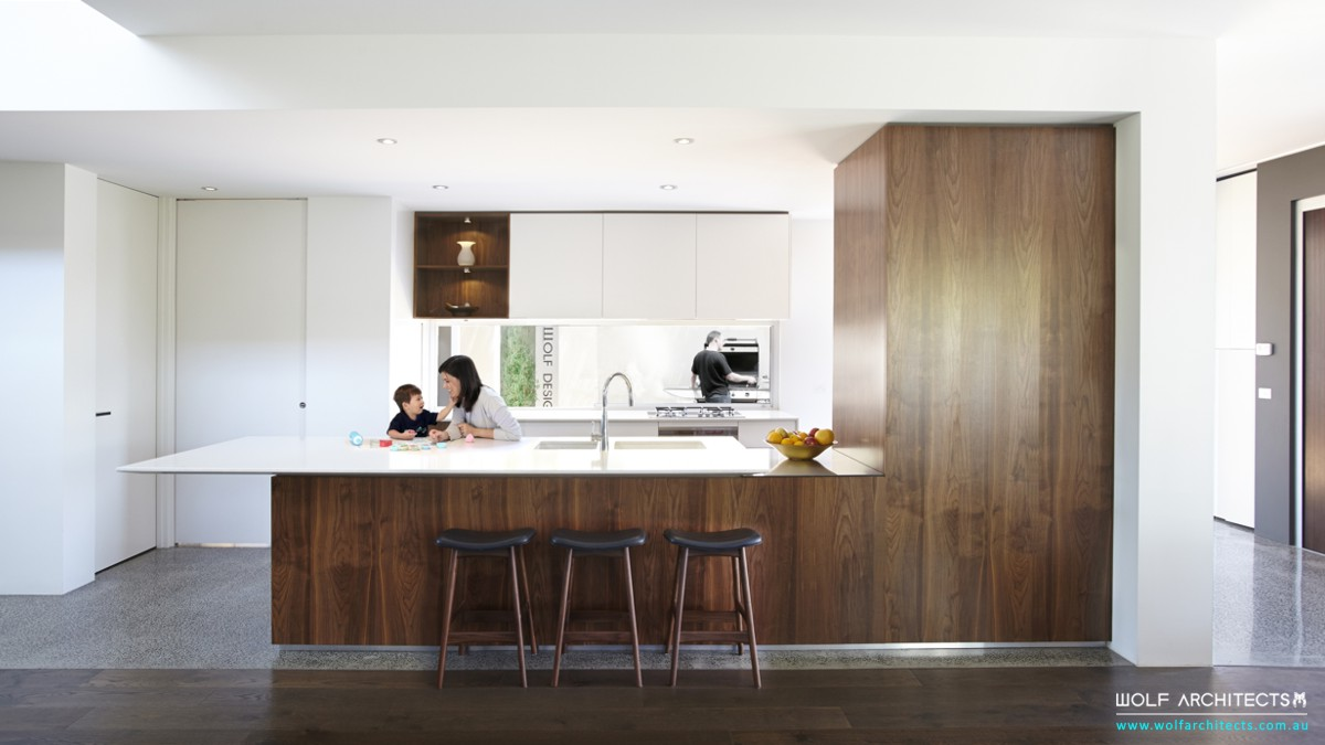 Wolf house kitchen by Wolf Architects