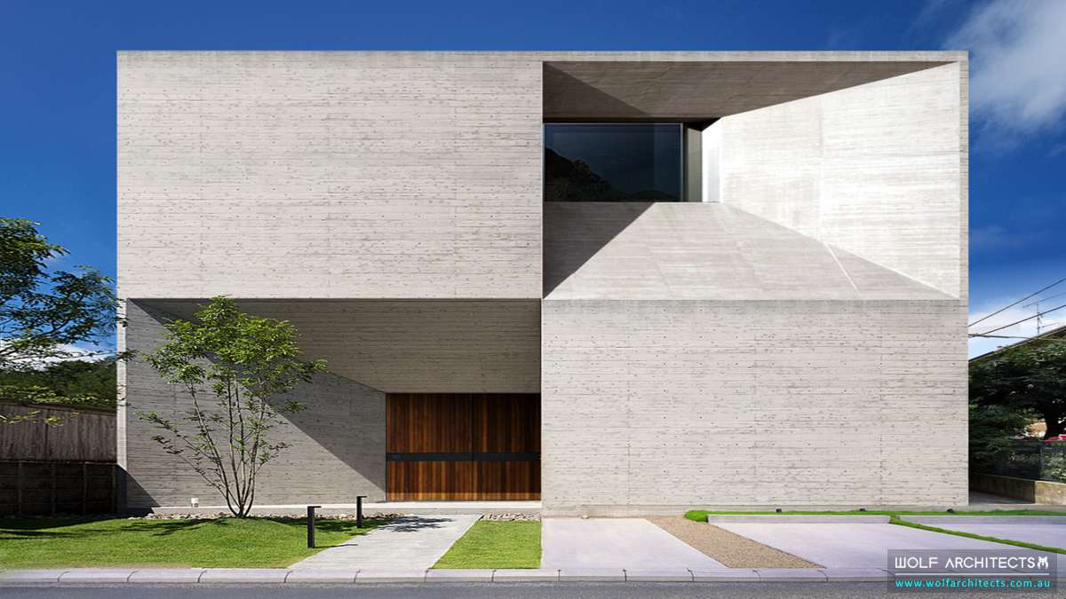 Contemporary Concrete Community Art Center by Wolf Architects