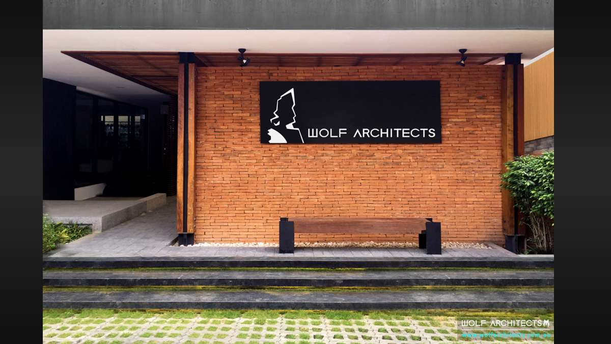 Side Office entry of Bangkok Wolf Architects branch