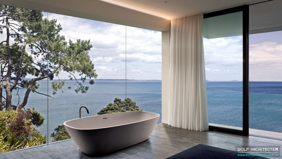 Bay View House modern minimal bathroom