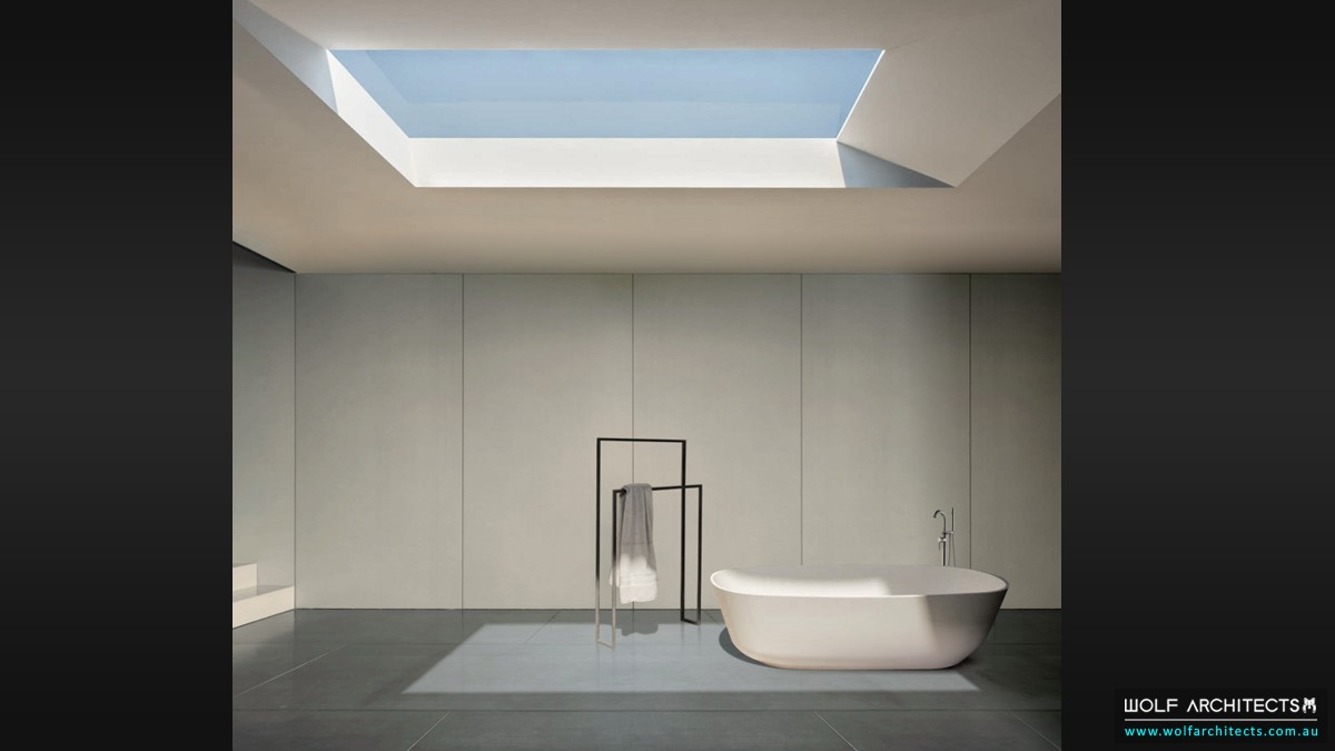 Minimalist Bathroom of Bay view house
