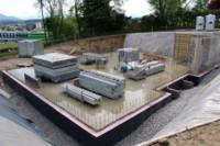 Excavated building site