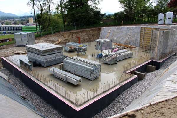 Building site slab