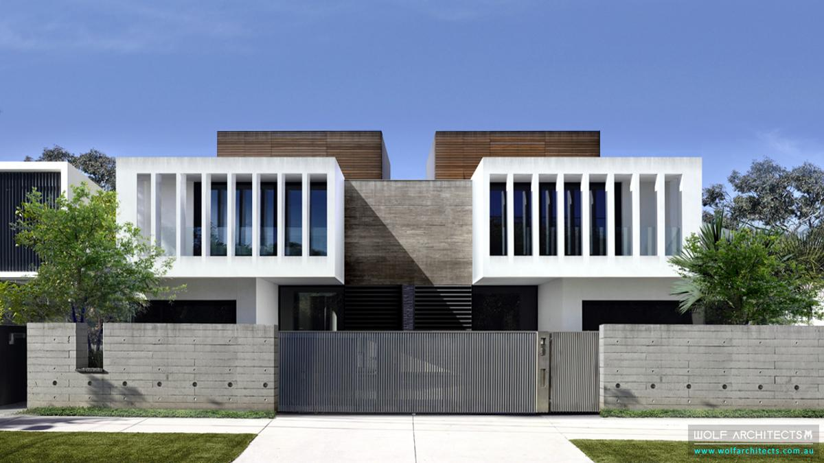 Contemporary modern Town House multi residential development