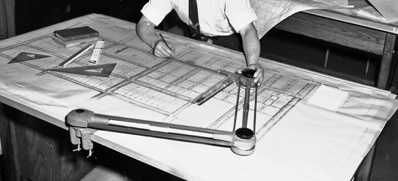 The old fashioned way of making drawings