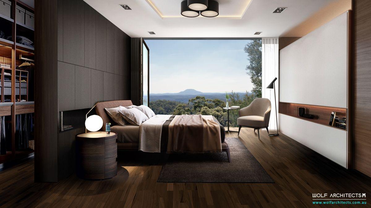 White block house luxury modern bedroom