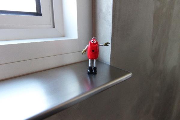Customised stainless-steel shelf
