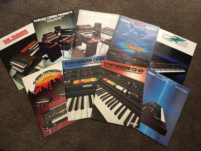 Rare Yamaha synthesiser brochures