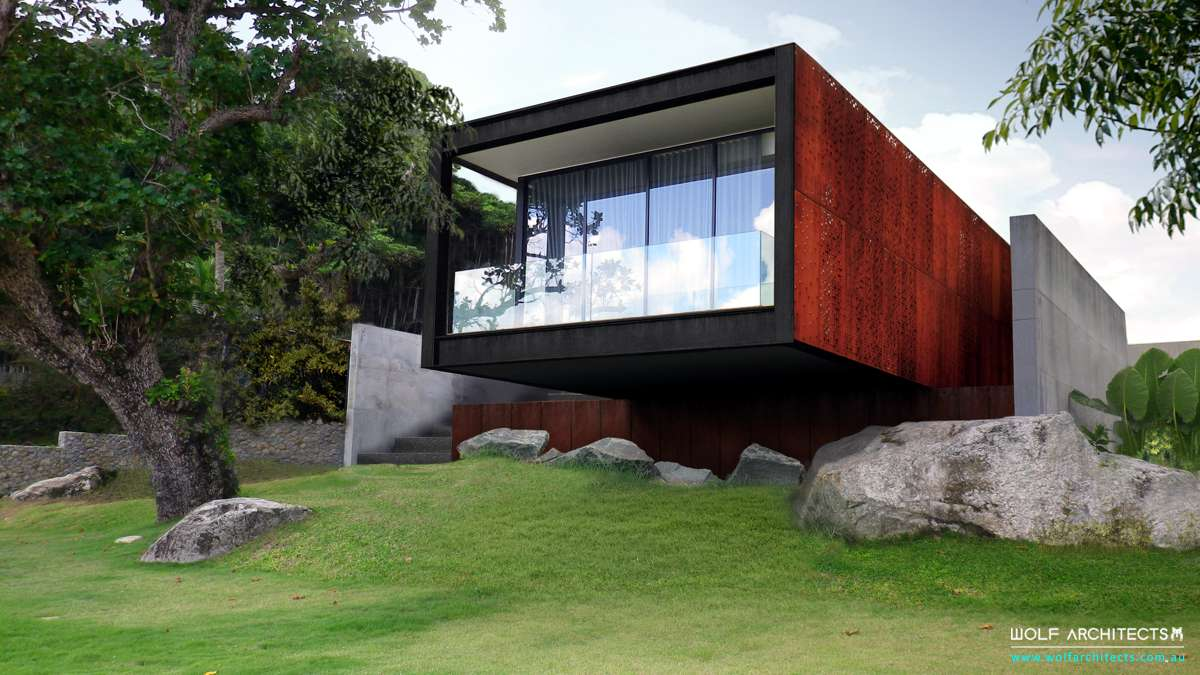 Modern contemporary Phuket beach view house