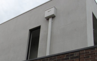 Down pipe on modern building
