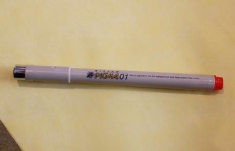 An original 1980s Pigma pen