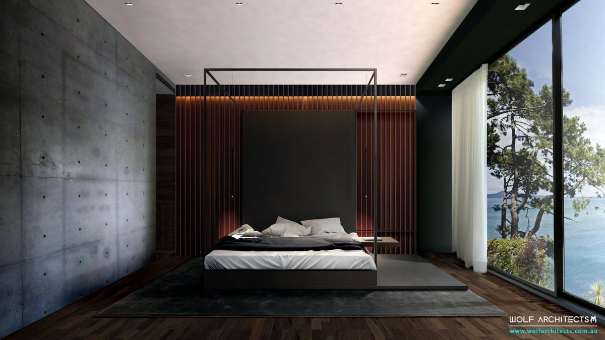Bay View House Master Modern contemporary bedroom