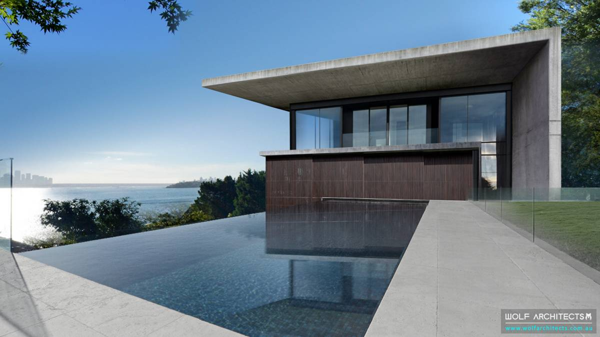 Bay View House modern with concrete roof