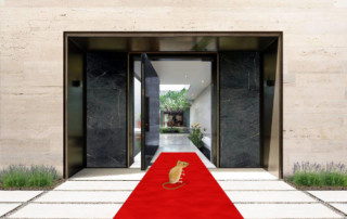 Super Villa Entry with mouse on red carpet