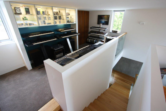 Synthesizer room of Taras Wolf