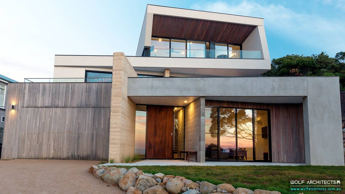 Feature project Mount Martha modern house front