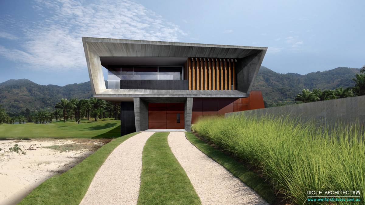 Modern contemporary Golf Course villa home